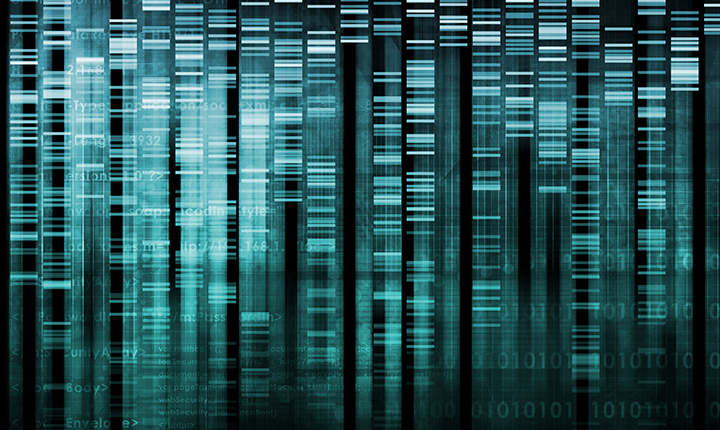 DNA barcoding in green gradient